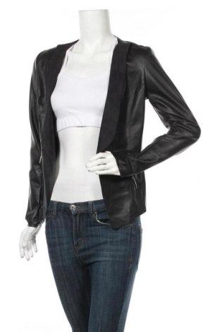 Дамско кожено сако Jennifer Taylor, Размер S, Цвят Черен, Еко кожа, Цена 37,33лв.