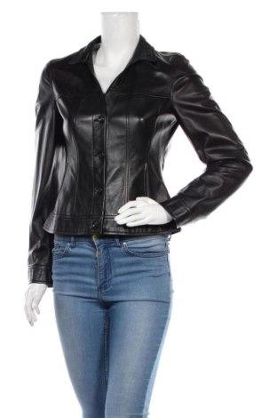 Дамско кожено сако Rene Lezard, Размер S, Цвят Черен, Естествена кожа, Цена 64,80лв.