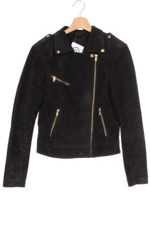Dámská kožená bunda , Velikost XS, Barva Černá, Přírodní velur , Cena  1333,00Kč