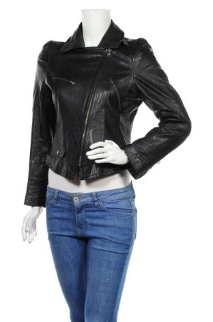 Dámská kožená bunda , Velikost XL, Barva Černá, Pravá kůže, Cena  1333,00Kč
