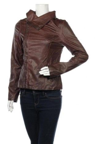 Дамско кожено яке, Размер S, Цвят Кафяв, Еко кожа, Цена 46,41лв.