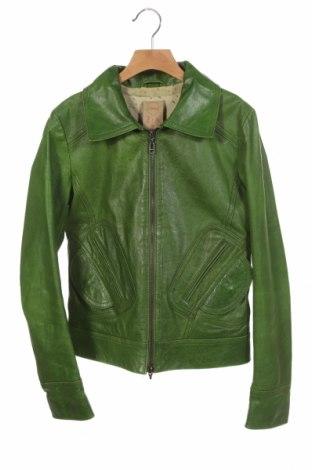 Geacă de piele pentru femei Doma, Mărime XS, Culoare Verde, Piele naturală, Preț 393,91 Lei