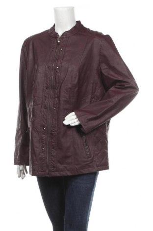 Дамско кожено яке Helena Vera, Размер XL, Цвят Червен, Еко кожа, Цена 44,10лв.
