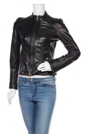 Γυναικείο δερμάτινο μπουφάν Hugo Boss, Μέγεθος M, Χρώμα Μαύρο, Γνήσιο δέρμα, Τιμή 118,15€