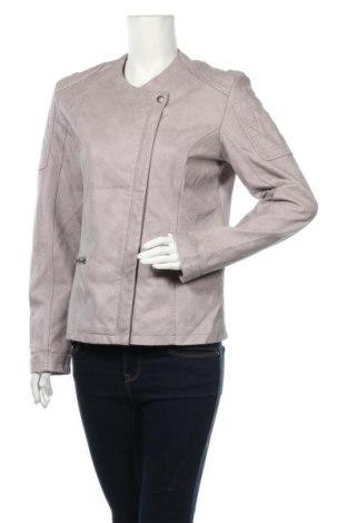 Дамско кожено яке Infinity, Размер M, Цвят Сив, Еко кожа, Цена 31,92лв.