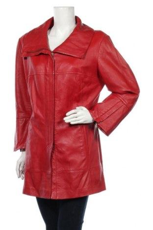 Dámská kožená bunda  Madeleine, Velikost XL, Barva Červená, Pravá kůže, Cena  1787,00Kč