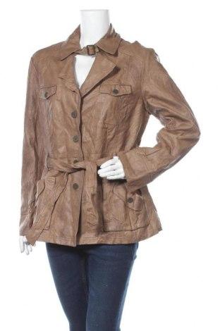 Дамско кожено яке My Own, Размер XL, Цвят Кафяв, Еко кожа, Цена 11,03лв.