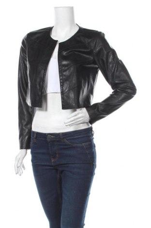 Дамско кожено яке ONLY, Размер M, Цвят Черен, Еко кожа, Цена 31,05лв.