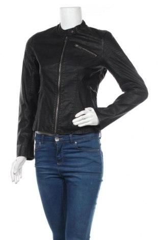Дамско кожено яке ONLY, Размер S, Цвят Черен, Еко кожа, Цена 32,76лв.