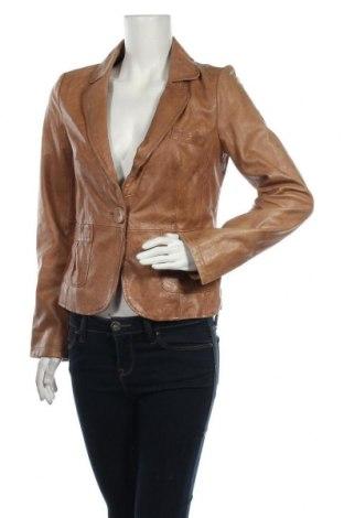 Дамско кожено яке Oasis, Размер M, Цвят Бежов, Естествена кожа, Цена 60,48лв.