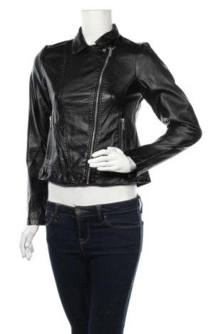 Дамско кожено яке Primark, Размер S, Цвят Черен, Еко кожа, Цена 20,79лв.
