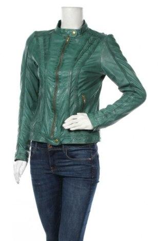 Dámská kožená bunda  Rock'n Blue, Velikost M, Barva Zelená, Pravá kůže, Cena  1726,00Kč