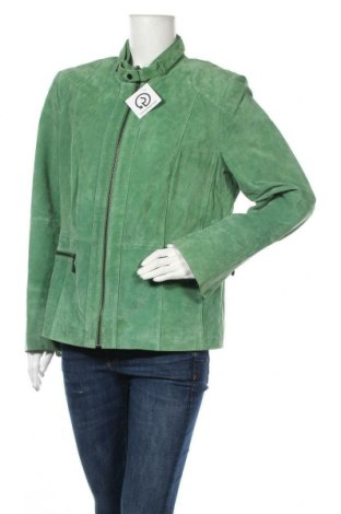 Dámská kožená bunda  Sarah Kern, Velikost XL, Barva Zelená, Přírodní velur , Cena  1302,00Kč
