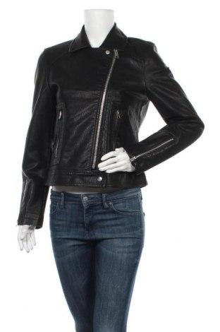 Дамско кожено яке Topshop, Размер M, Цвят Черен, Еко кожа, Цена 40,05лв.