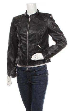 Дамско кожено яке Vero Moda, Размер L, Цвят Черен, Еко кожа, Цена 33,28лв.