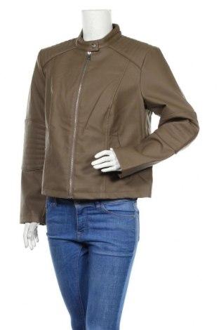 Дамско кожено яке Vero Moda, Размер XL, Цвят Кафяв, Еко кожа, Цена 35,55лв.