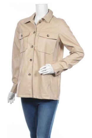 Дамско кожено яке Vero Moda, Размер S, Цвят Бежов, Еко кожа, Цена 35,55лв.