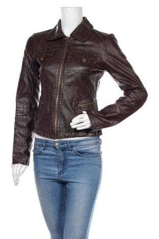 Дамско кожено яке Vero Moda, Размер S, Цвят Кафяв, Еко кожа, Цена 29,92лв.
