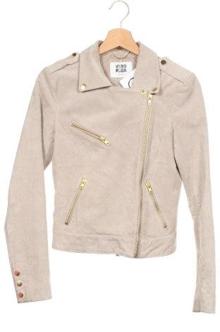 Dámská kožená bunda  Vero Moda, Velikost XS, Barva Béžová, Přírodní velur , Cena  1348,00Kč