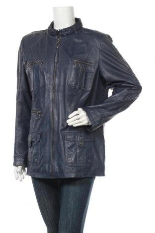 Dámská kožená bunda  Yessica, Velikost XL, Barva Modrá, Pravá kůže, Cena  1333,00Kč