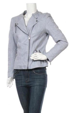 Дамско кожено яке Yessica, Размер L, Цвят Син, Еко кожа, Цена 37,80лв.