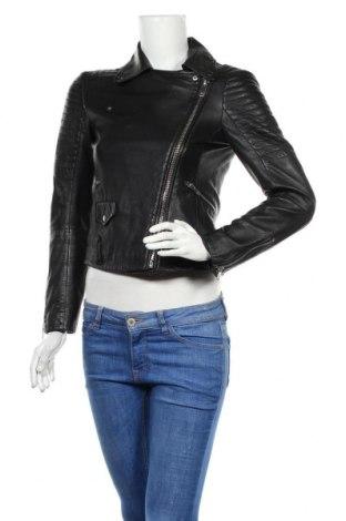 Dámská kožená bunda  Zara, Velikost S, Barva Černá, Pravá kůže, Cena  1484,00Kč