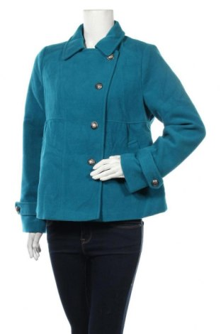 Дамско палто Hot Options, Размер XL, Цвят Син, Полиестер, вискоза, еластан, Цена 19,51лв.