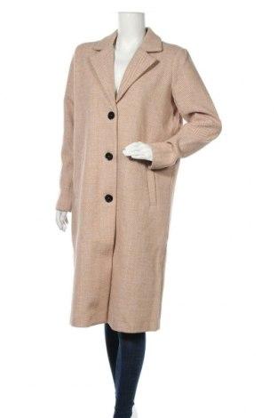 Palton de femei Kaffe, Mărime M, Culoare Bej, Poliester, Preț 467,50 Lei