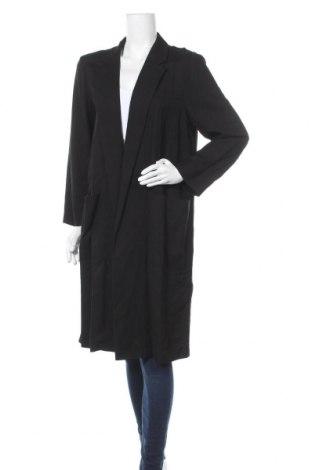 Palton de femei Massimo Dutti, Mărime L, Culoare Negru, Viscoză, Preț 491,45 Lei