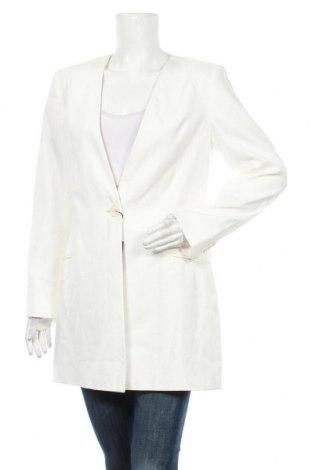 Palton de femei Massimo Dutti, Mărime L, Culoare Ecru, 54% in, 45% bumbac, 1% elastan, Preț 550,66 Lei
