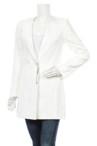 Palton de femei Massimo Dutti, Mărime M, Culoare Ecru, 54% in, 45% bumbac, 1% elastan, Preț 530,92 Lei