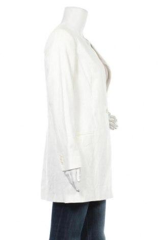 Дамско палто Massimo Dutti, Размер M, Цвят Екрю, 54% лен, 45% памук, 1% еластан, Цена 201,75лв.