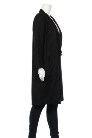 Дамско палто Massimo Dutti, Размер M, Цвят Черен, Вискоза, Цена 171,75лв.