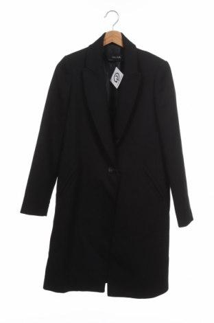 Γυναικείο παλτό Zara, Μέγεθος XS, Χρώμα Μαύρο, 69% πολυεστέρας, 30% μαλλί, 1% ελαστάνη, Τιμή 64,79€