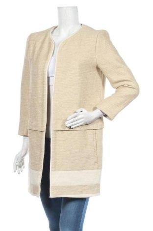 Дамско палто Zara, Размер M, Цвят Бежов, 87% памук, 13% лен, Цена 51,87лв.