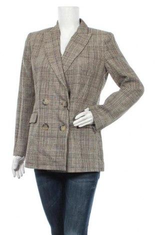 Дамско сако Massimo Dutti, Размер L, Цвят Многоцветен, Лен, Цена 79,60лв.