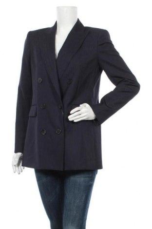 Дамско сако Massimo Dutti, Размер M, Цвят Син, Вълна, Цена 85,57лв.