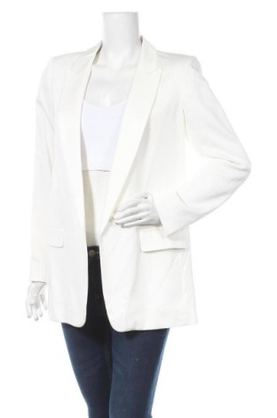 Дамско сако Massimo Dutti, Размер M, Цвят Екрю, 99% вискоза, 1% еластан, Цена 85,57лв.