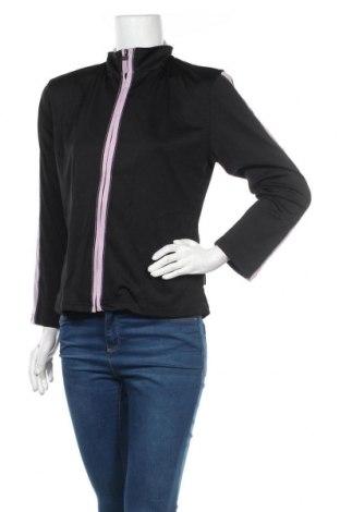 Дамско спортно горнище Liz Jordan, Размер S, Цвят Черен, 94% полиестер, 6% еластан, Цена 19,11лв.