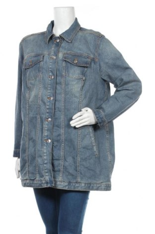 Дамско яке Chico's, Размер 3XL, Цвят Син, 79% памук, 19% полиестер, 2% еластан, Цена 45,36лв.