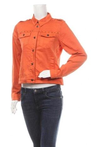 Дамско яке Culture, Размер M, Цвят Оранжев, 98% памук, 2% еластан, Цена 48,30лв.