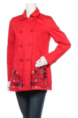 Γυναικείο μπουφάν Desigual, Μέγεθος M, Χρώμα Κόκκινο, 98% βαμβάκι, 2% ελαστάνη, Τιμή 41,90€