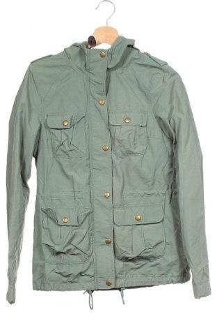 Γυναικείο μπουφάν H&M Divided, Μέγεθος XS, Χρώμα Πράσινο, 55% πολυαμίδη, 45% βαμβάκι, Τιμή 19,74€