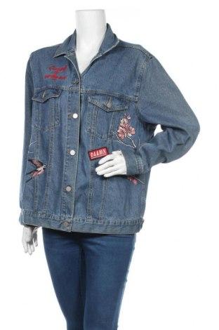 Γυναικείο μπουφάν H&M Divided, Μέγεθος L, Χρώμα Μπλέ, 70% βαμβάκι, 16% πολυεστέρας, 14% βισκόζη, Τιμή 29,62€