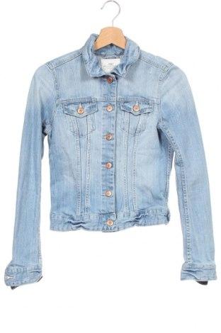 Geacă de femei H&M L.O.G.G., Mărime XS, Culoare Albastru, 99% bumbac, 1% elastan, Preț 91,35 Lei
