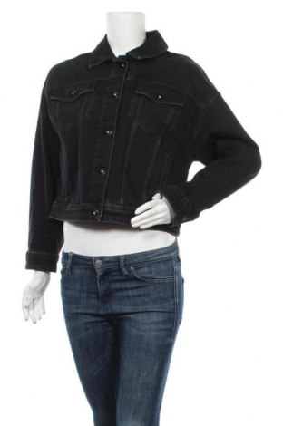 Дамско яке Massimo Dutti, Размер L, Цвят Черен, 96% памук, 3% полиестер, 1% еластан, Цена 83,40лв.