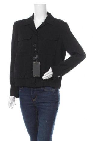 Дамско яке Massimo Dutti, Размер L, Цвят Черен, 97% вискоза, 3% еластан, Цена 41,72лв.