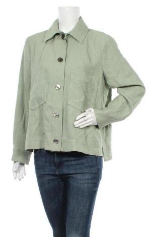 Дамско яке Massimo Dutti, Размер XL, Цвят Зелен, Вискоза, Цена 83,40лв.