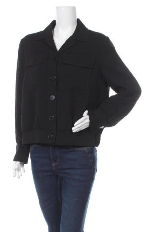 Дамско яке Massimo Dutti, Размер XL, Цвят Черен, 97% вискоза, 3% еластан, Цена 83,40лв.