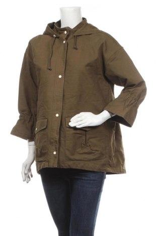 Дамско яке Zara Trafaluc, Размер L, Цвят Зелен, Цена 54,60лв.